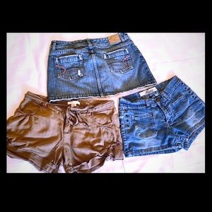 American Eagle Skirt & Billabong Shorts Bundle